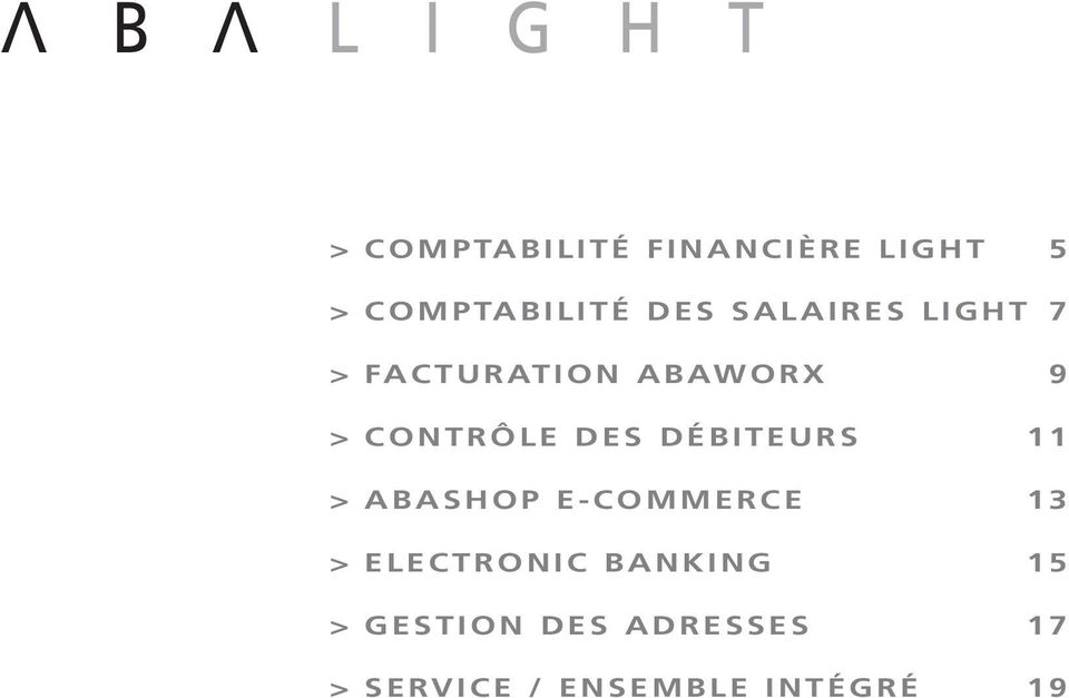 DÉBITEURS 11 > ABASHOP E-COMMERCE 13 > ELECTRONIC
