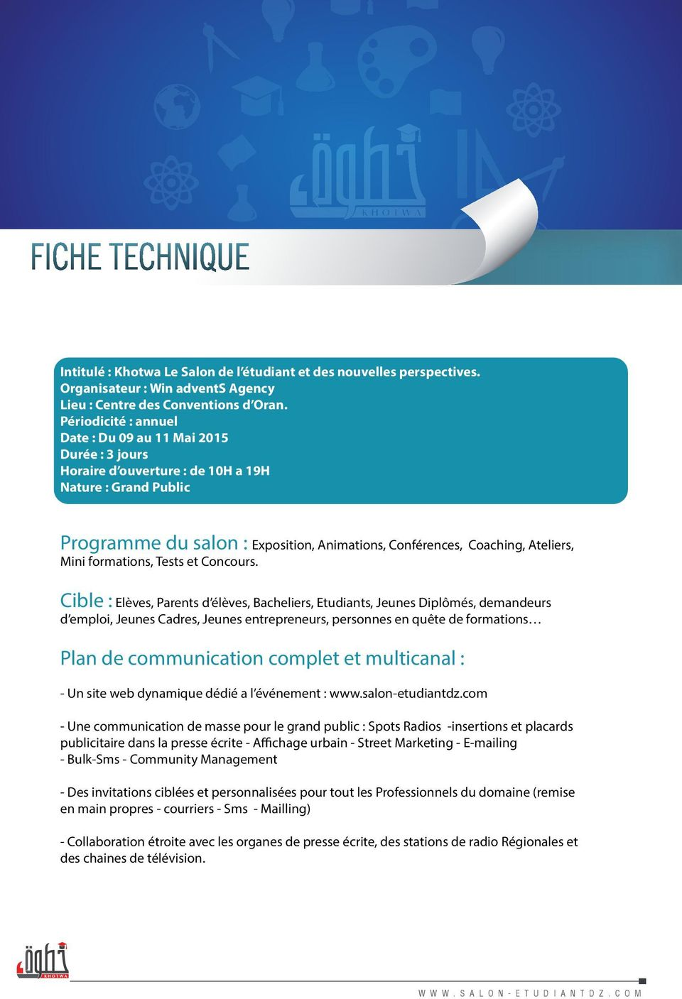 Mini formations, Tests et Concours.
