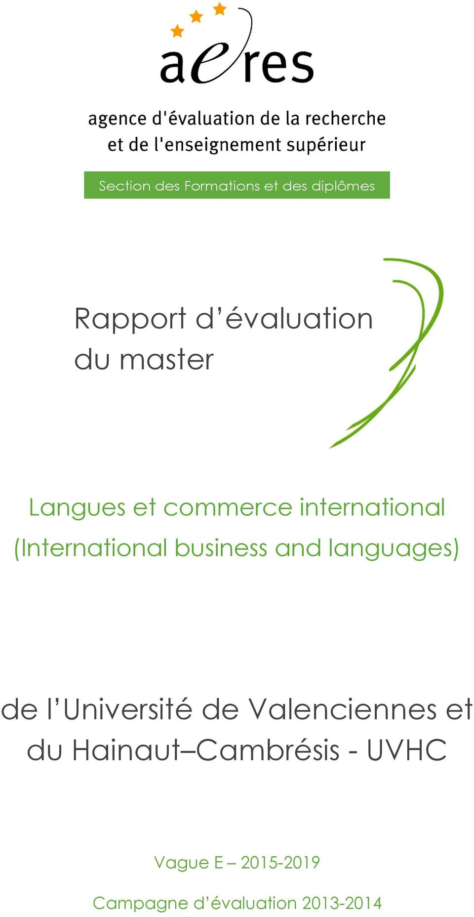 business and languages) de l Université de Valenciennes et du