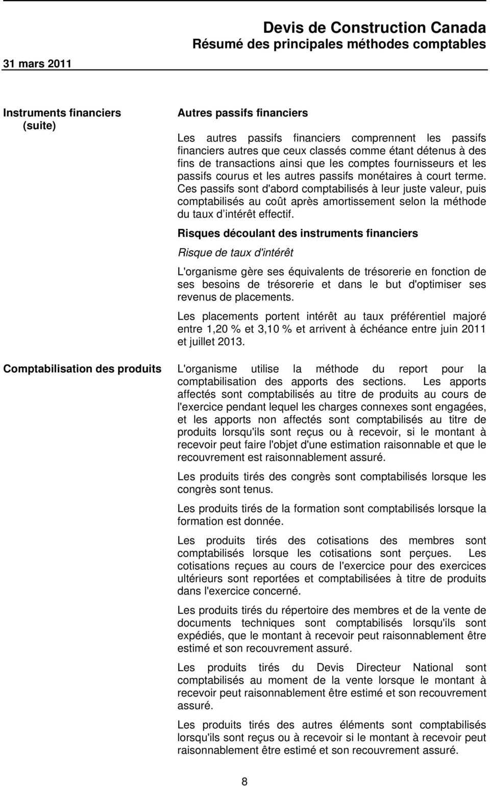 Devis de construction canada pdf for Devis de construction