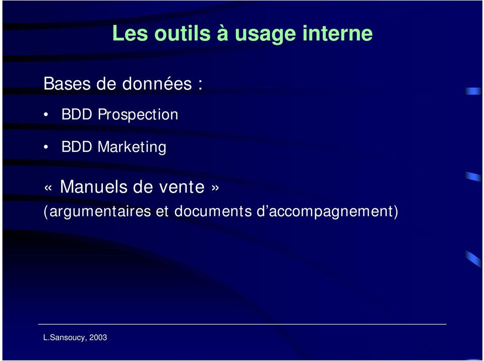 Marketing «Manuels de vente»