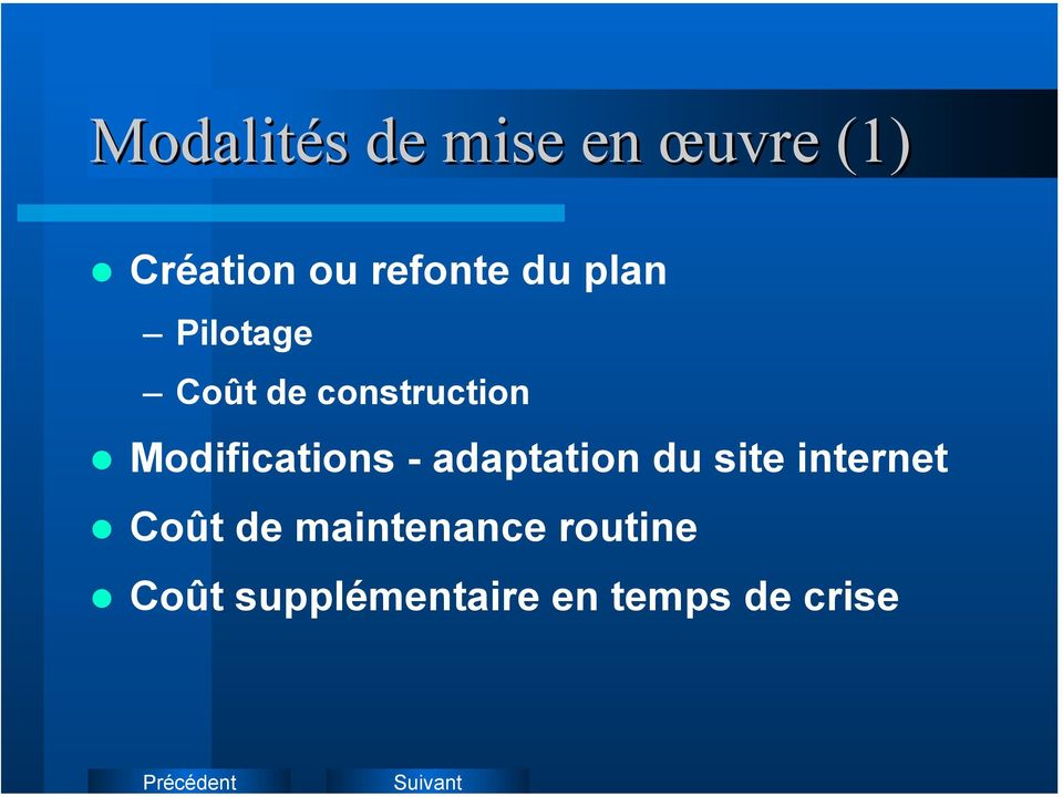 Modifications - adaptation du site internet Coût