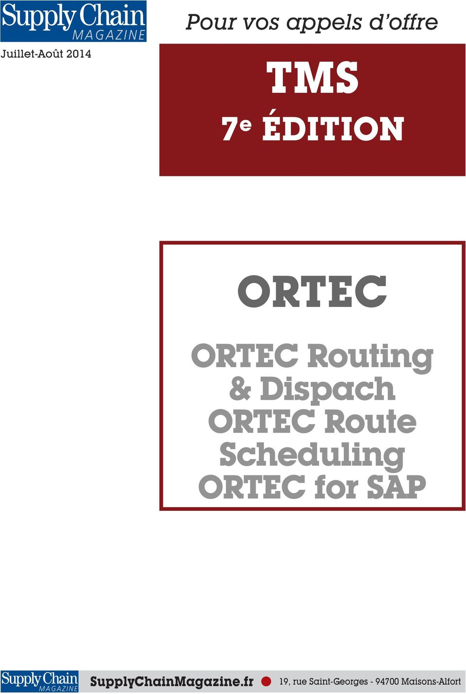 Route Scheduling ORTEC for SAP