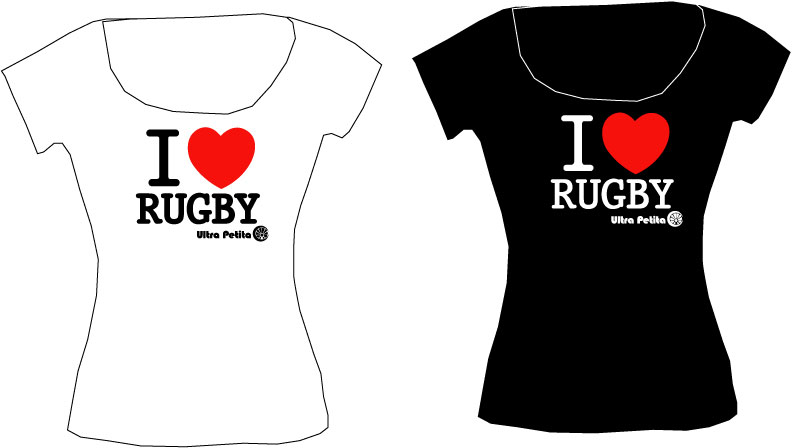 I love Rugby T-shirts manches courtes 100% Coton -