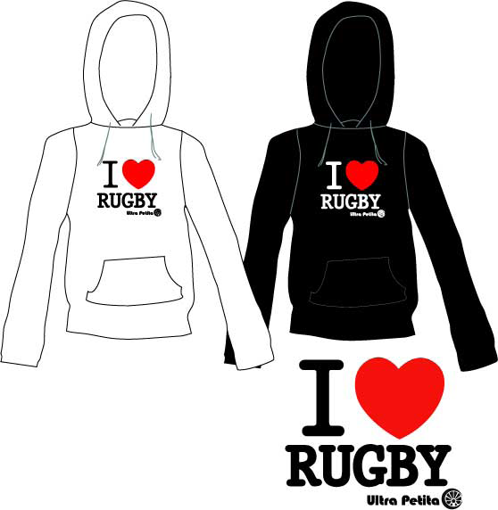 Sweats I love Rugby REF - SW H 001 REF - SW J 001 Sweat capuche 100 % Coton