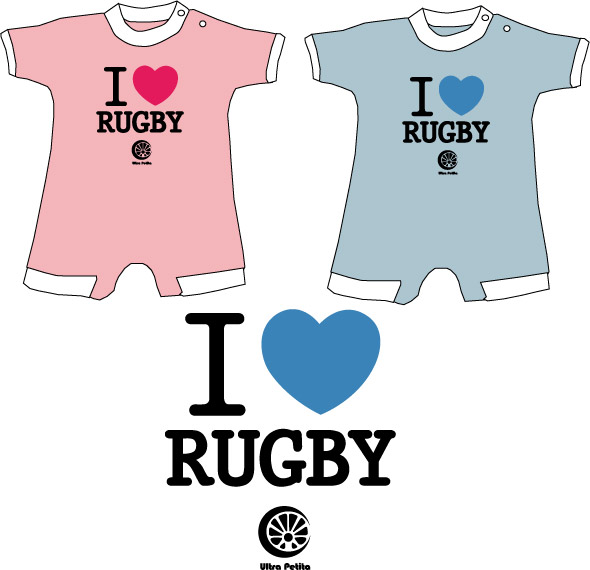 I love Rugby 100 % coton Sérigraphie Taille unique REF - BB