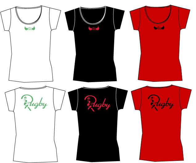 Rugby pin up REF - TS F 008 T-shirt