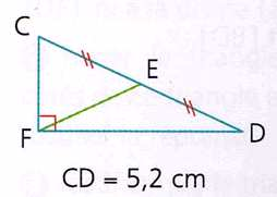 Conséquence : Le cercle circonscrit à un triangle rectangle a : pour centre, le milieu de l hypoténuse, pour rayon, la moitié de la longueur de l hypoténuse. b. Triangle rectangle et médiane.