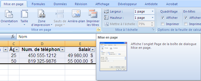 16. Mise en page du document a.
