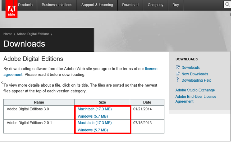 2. Installer Adobe Digital Editions Installez le logiciel gratuit Adobe