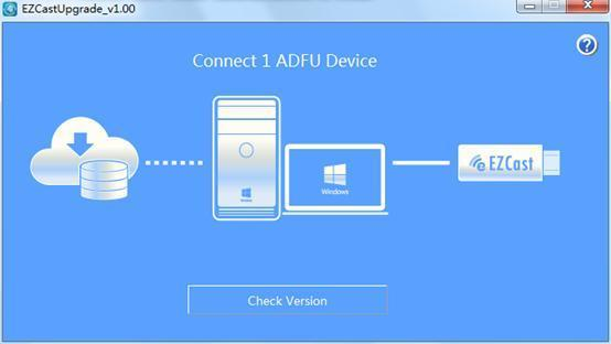 Click Check Version, the tool will start to compare the FW version between dongle