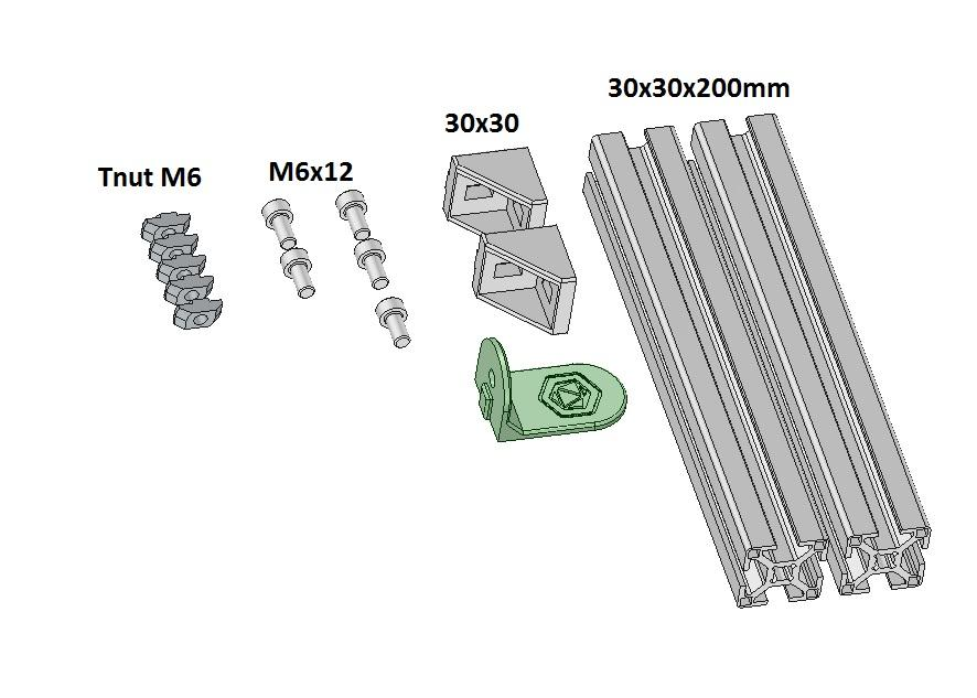 The aluminium extrusions have very low friction, wich is very nice for the spool to rotate freely.