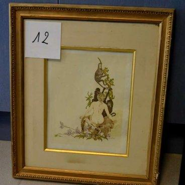 "Lot 13 : Reproduction en plâtre ""Lion en furie"" de Thomas François"