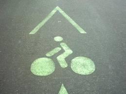 Bande cyclable.