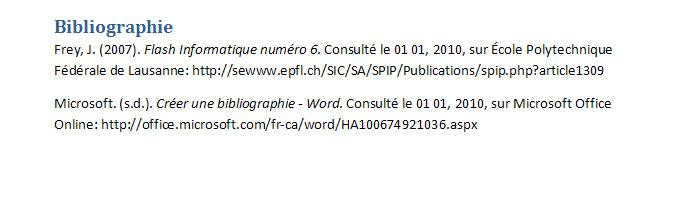 ch/sic/sa/spip/publications/spip.php?article1309 Microsoft. (s.d.). Créer une bibliographie - Word.