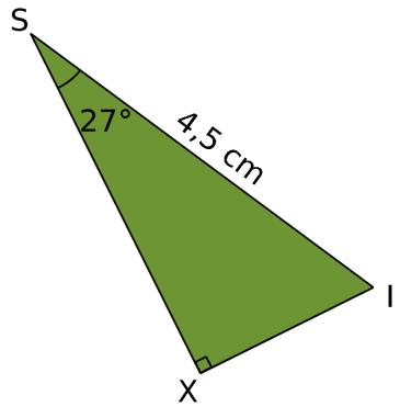 Calculer une longueur dans un triangle rectangle en