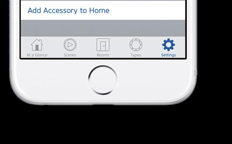 Get started Prise en main 3 Open the Elgato Eve app and tap Add Accessory.