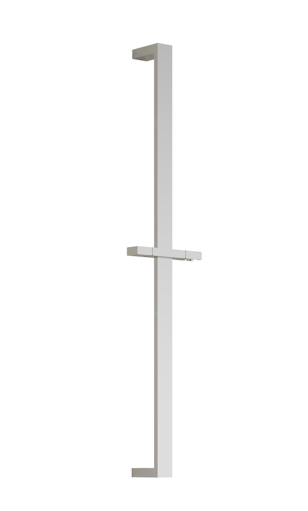 102858 Wallbar for Handshower SPECIFICATIONS Features Total height of 762mm (30 ) Locking system Chrome : 102858-110 Packaging Dimensions: 832mm x 152mm x 89mm (32 3/4 x 6 x 3 1/2 ) Volume: 0.