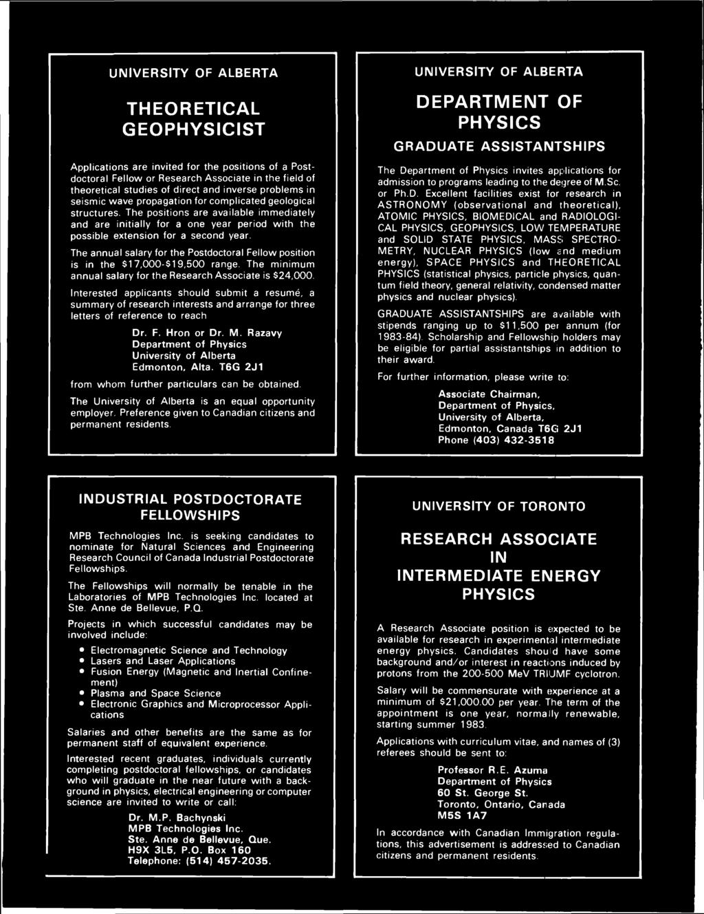 The bulletin of the canadian association of physicists vol 39 no the positions are available immediately and are initially for a one year period with the possible fandeluxe Gallery