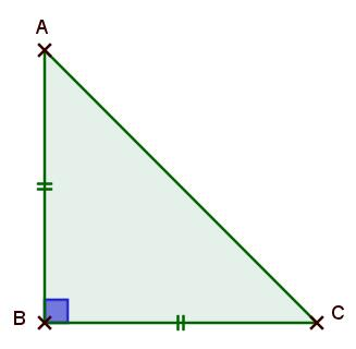 Remarque : Un triangle peut être à la fois rectangle et isocèle : on dit alors qu il est rectangle isocèle. a4) Construction d un triangle : ABC est un triangle rectangle isocèle en B.
