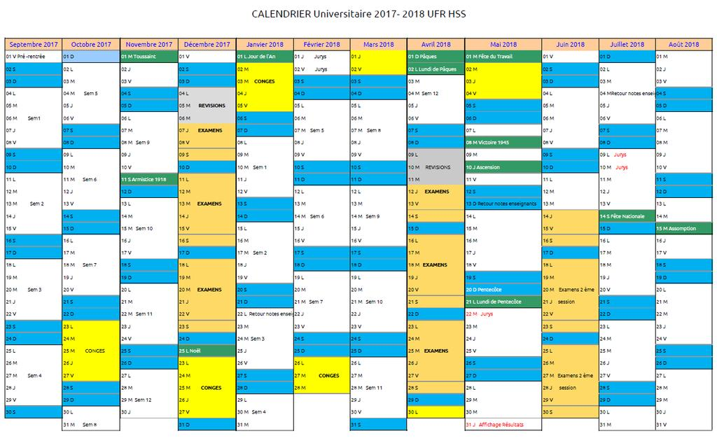 Ut2j Calendrier Universitaire.Universite Caen Normandie Ufr Hss Humanites Sciences
