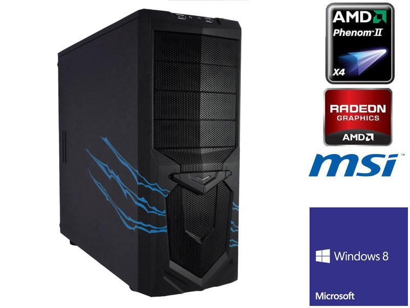 Boîtier : Carte Mère : Bureautique, multimédia, jeux PC Wolfclaw - 500 W MSI 760GM-P34 (FX) AMD Phenom II X4 965 Black Edition 3.4 Ghz 4 Go DDR3 1333Mhz Disque Dur : 500 Go - SATA II - Format 3.