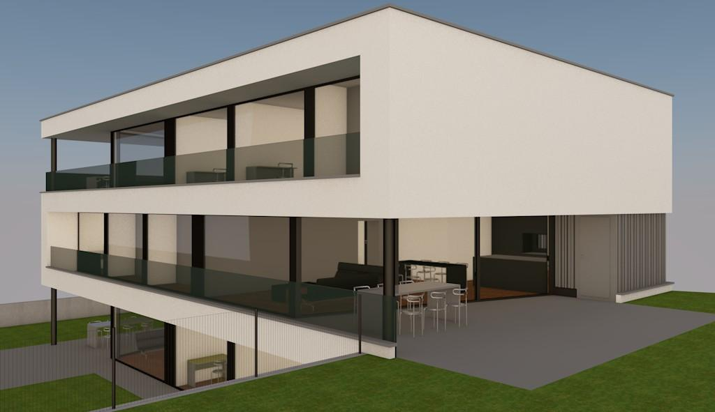 COUPE ET PERSPECTIVE APPARTEMENT ETAGE A3 / B3 / C3 APPARTEMENT REZ