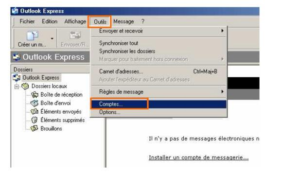 Messagerie - Outlook A partir de l écran d