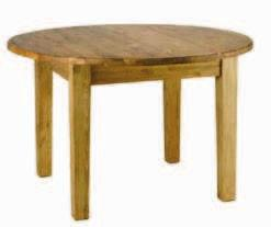 Table repas ronde  : 120 (+40) x 120