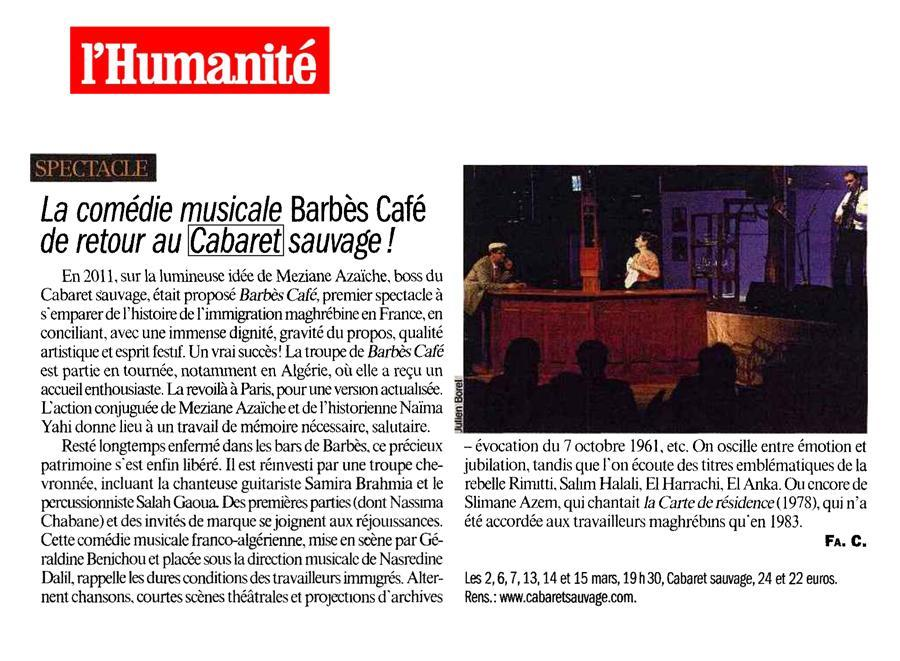 L HUMANITE Mars 2013 BARBES