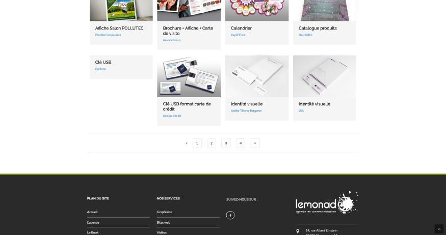 site de Lemonad.