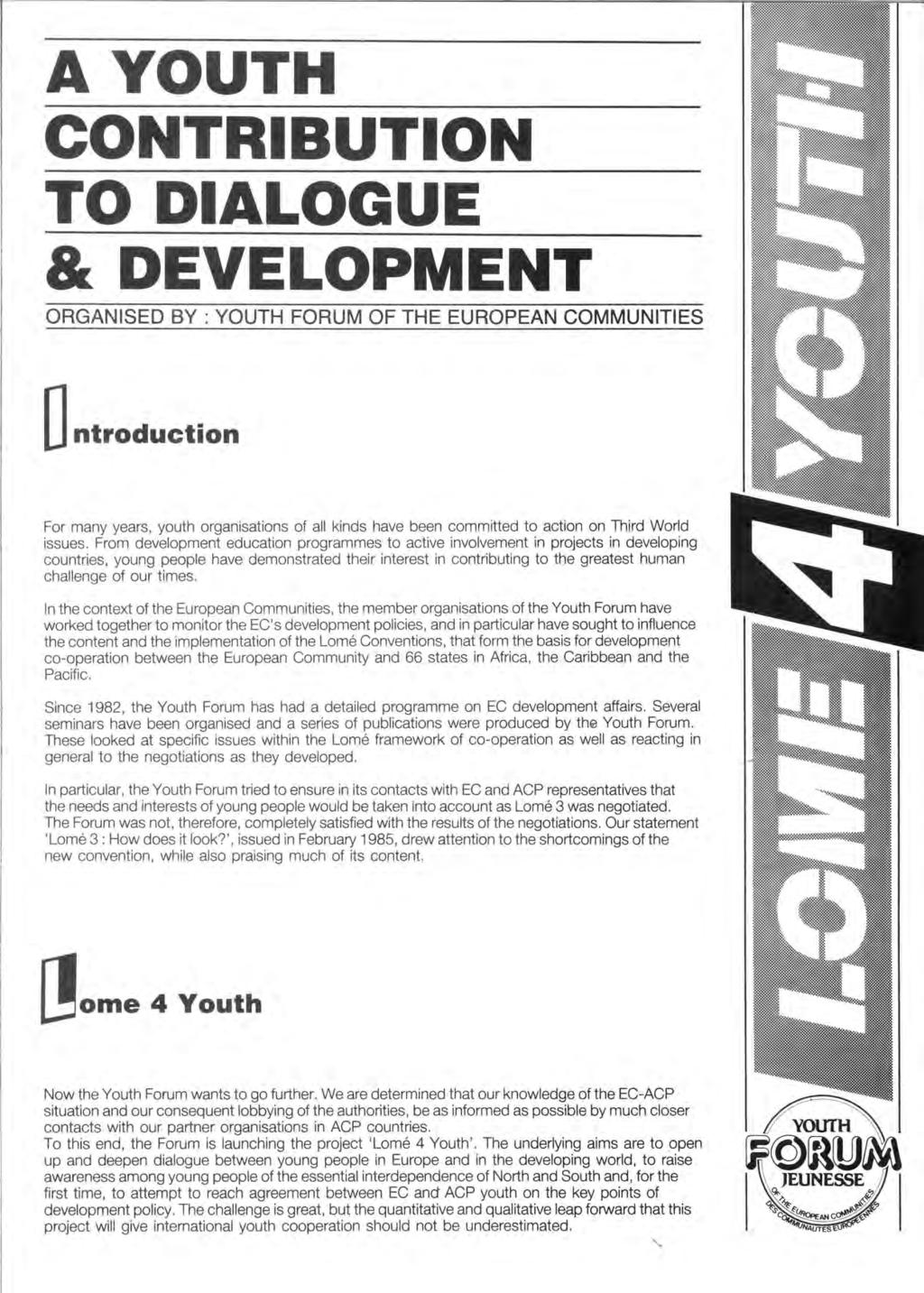 youth forum of the working group on youth lomé iv pdf
