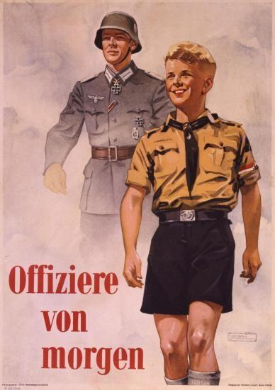 3. Étude d'un document : 4 points. Affiche de la HitlerJugend (Jeunesse hitlérienne), 1940. Offiziere von morgen (les officiers de demain). a) Quelle est la nature de ce document?