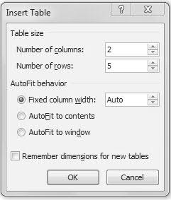 (See Figure 1) NOTE: Due to printer variance, margins and table measurements may need to be slightly adjusted. CREATING TABLE 1. On the toolbar ribbon, click the INSERT tab. 2.