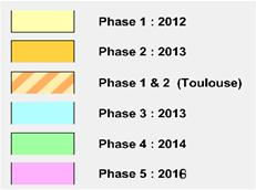 5 phases ( 80 km2/phase) Objectifs