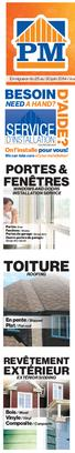 NEED A HAND? On l installe pour vous! We can take care of your installation! PORTES & FENÊTRES WINDOWS AND DOORS INSTALLATION SERVICE TOITURE ROOFING