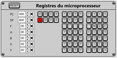 Registres Le registre PC (Program Counter) contient l adresse de l instruction à