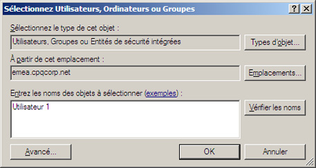 Ordinateurs ou Groupes.