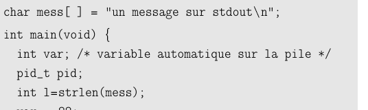 Version septembre 2013 N 215 fork: exemple simple #include