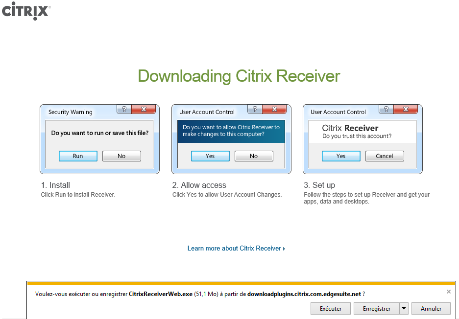 «Download Receiver for». 6 Valider la licence et presser «Continue».