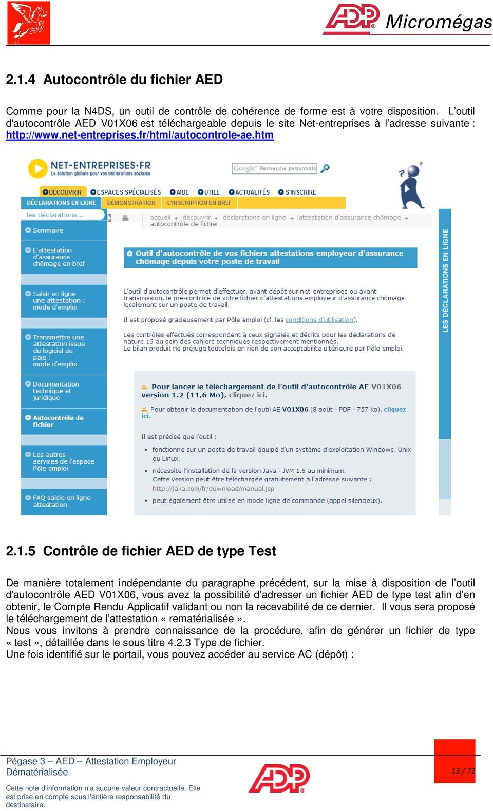 outil controle aed