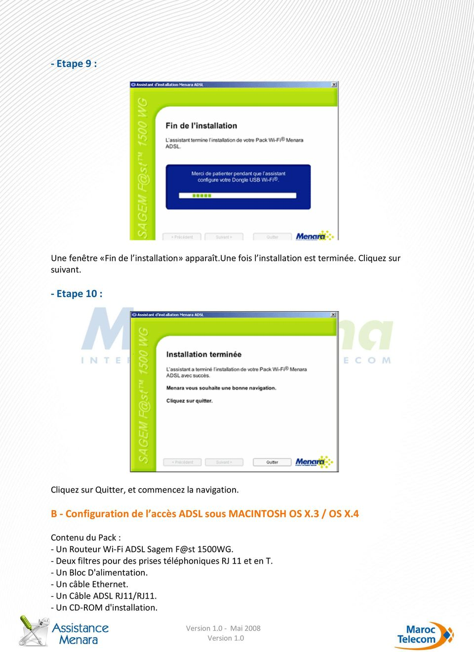 kit menara adsl gratuitement pour windows xp