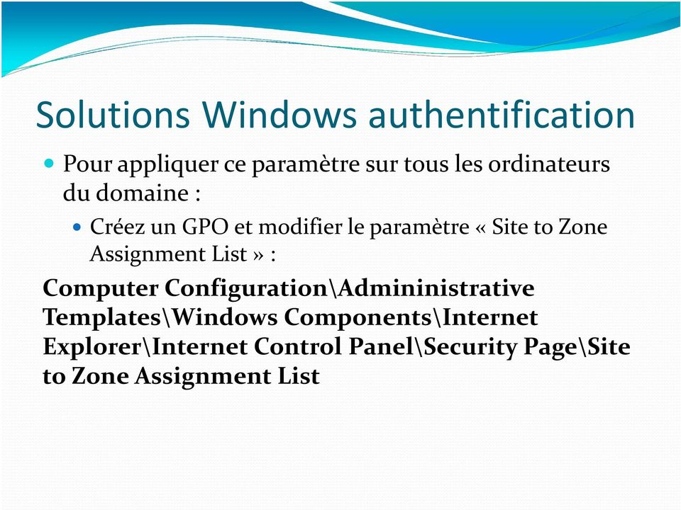 Assignment List» : Computer Configuration\Admininistrative Templates\Windows