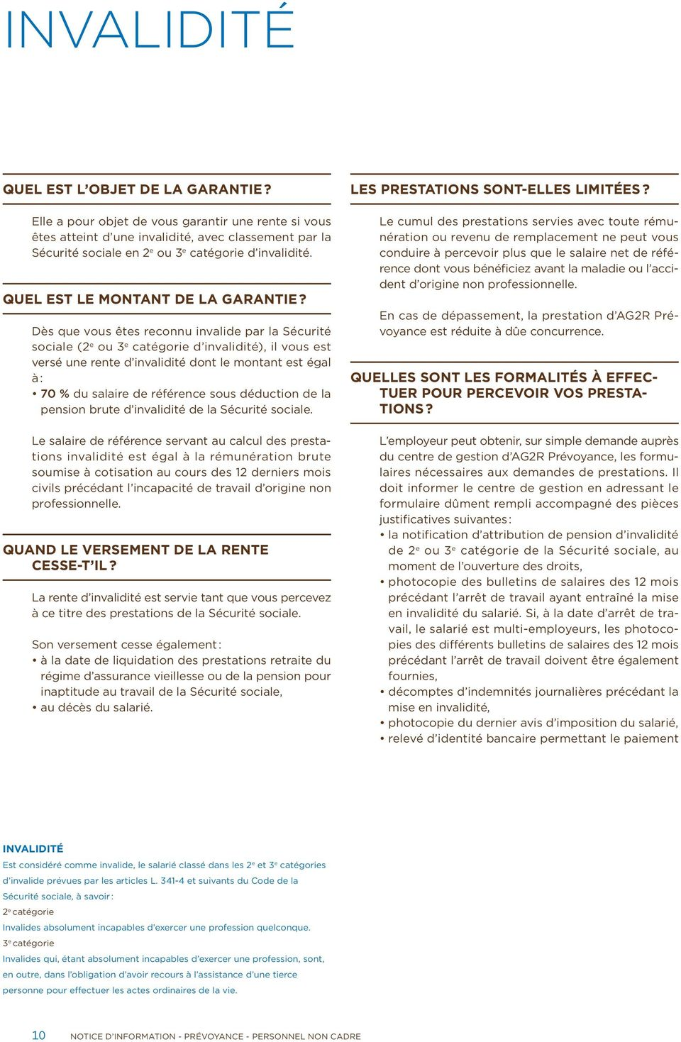 Notice D Information Prevoyance Convention Collective Nationale
