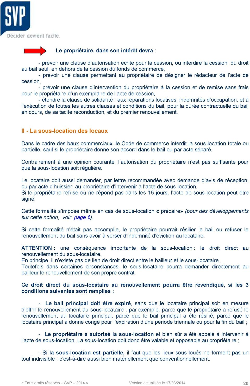 Comprendre Le Bail Commercial En 10 Points Cles Pdf