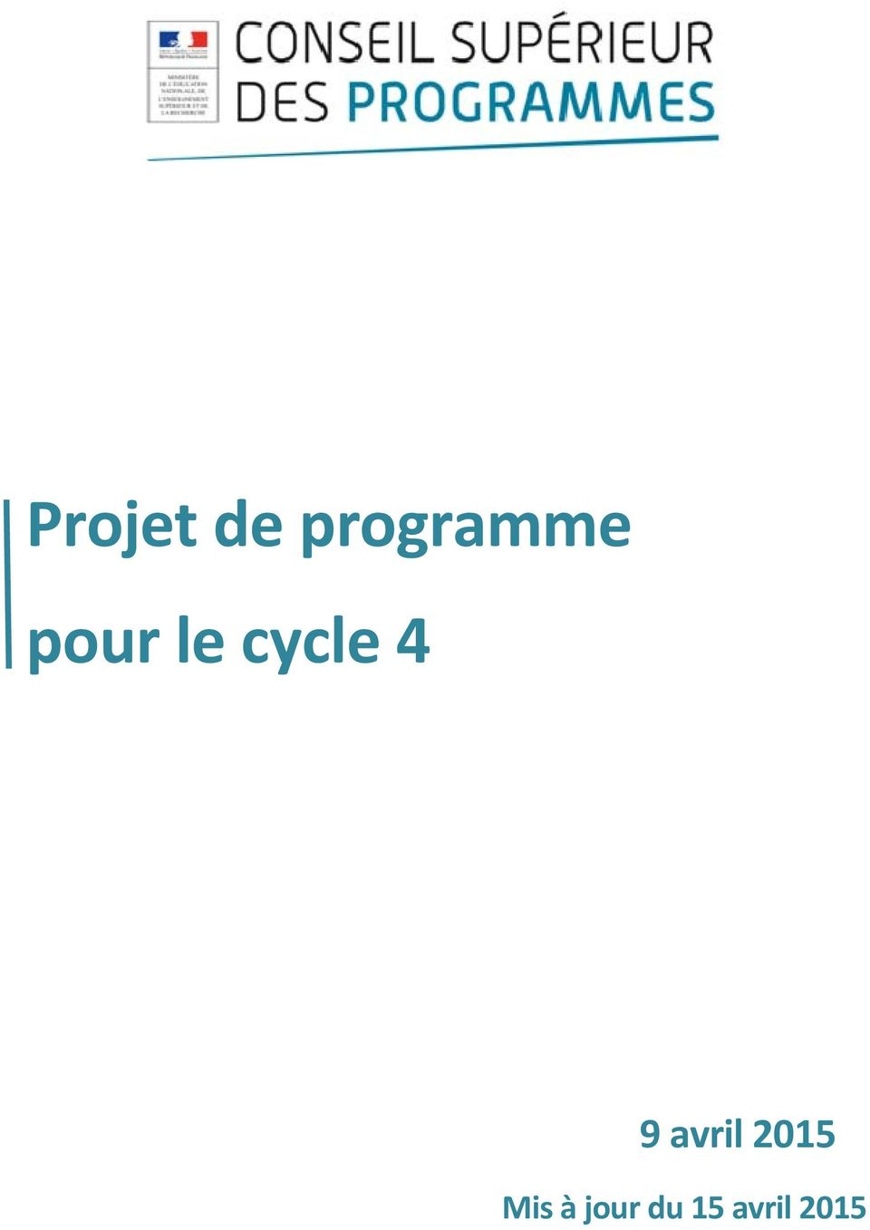 cycle 4 9 avril