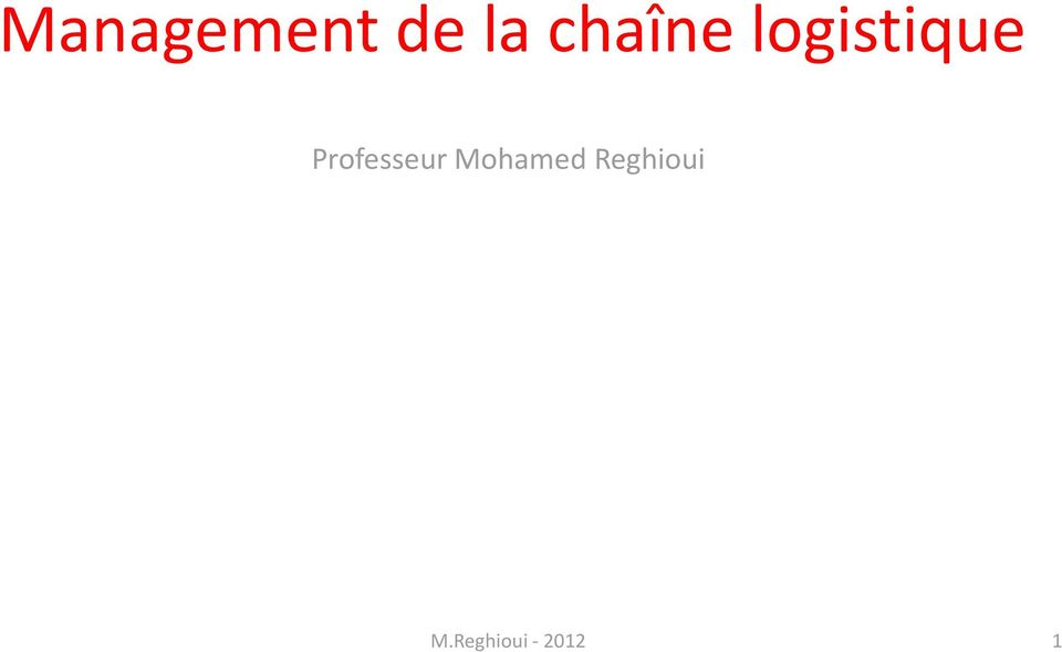 Professeur Mohamed