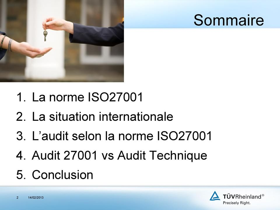 L audit selon la norme ISO27001 4.