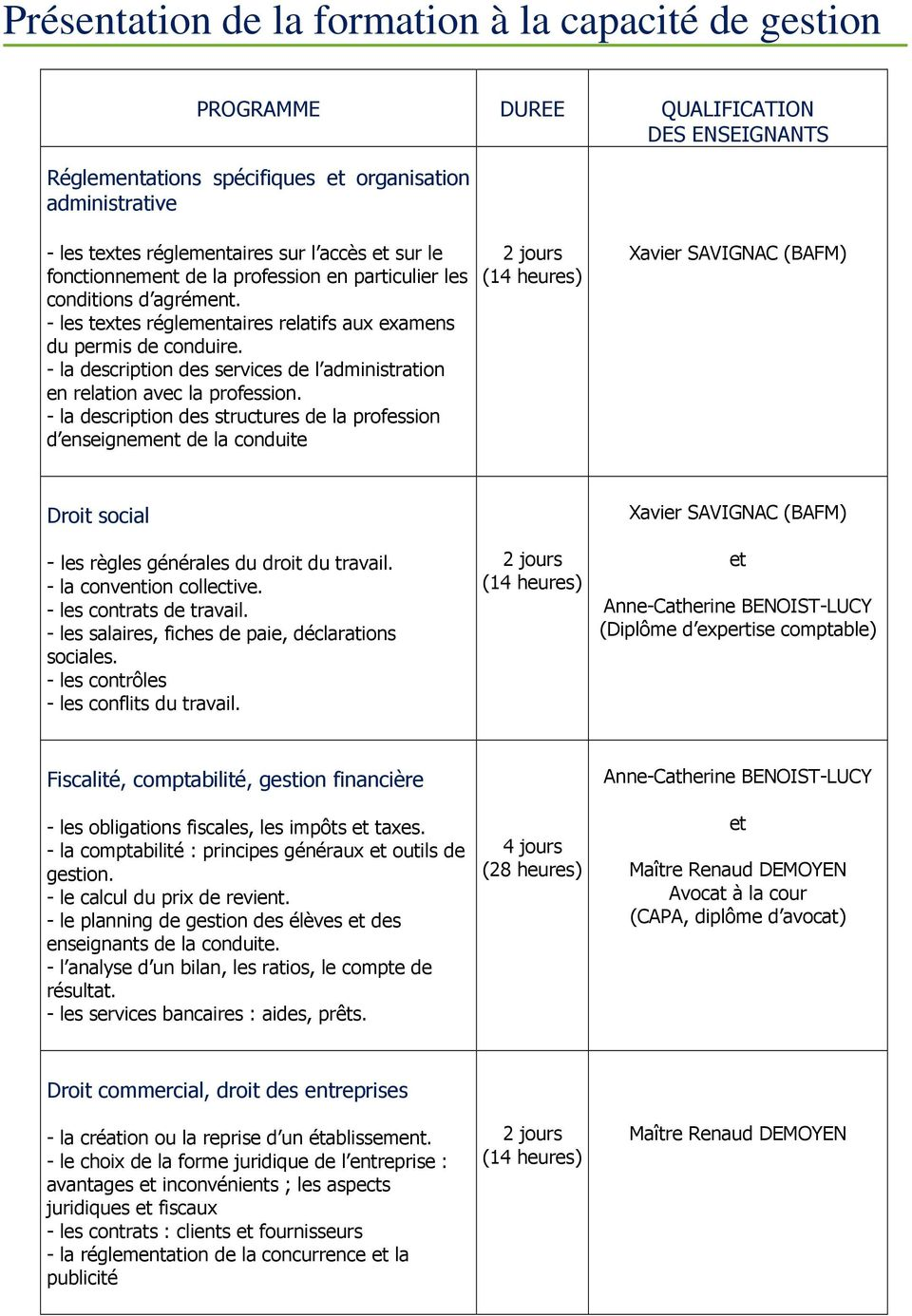- la description des services de l administration en relation avec la profession.