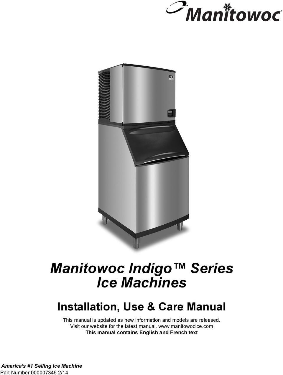 Visit our website for the latest manual. www.manitowocice.